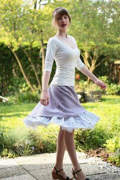 Jerseyshirt Ballettshirt gerafft creme