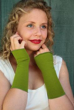Jerseystulpen grün