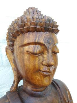 Bouddha debout mains jointes - en bois - 1 m