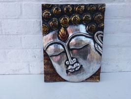 Panneau visage de Bouddha - 30 x 40 cm