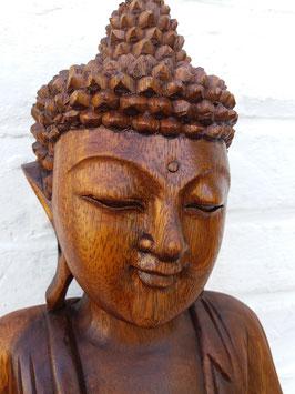 Bouddha debout en prière - en bois - 80 cm