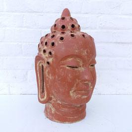 Tête de bouddha ajourée / Photophore - 45 cm