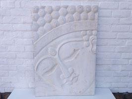 Panneau visage de Bouddha - 70 x 100 cm