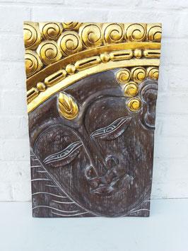 Panneau visage de Bouddha - 40 x 60 cm