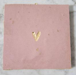 NIEUW: hartje pastel roze vierkant