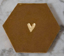 nieuw: hartje karamel