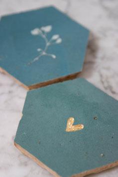 nieuw: hartje zeeblauw