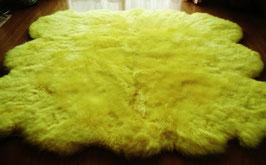 濃い黄色長毛自然型ムートンカーペット、ラグ②