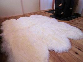 自然型長毛ホワイトムートンカーペット、ラグ