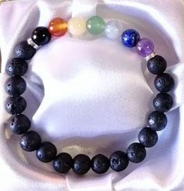 Bracelet 7 chakras + lave