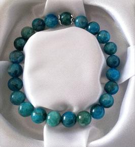 Bracelet Apatite bleue + argent 925