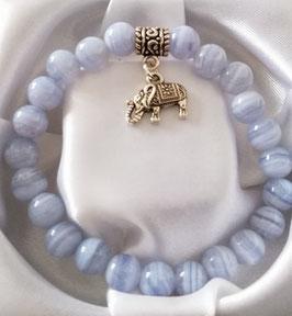 Bracelet Calcédoine + argent 925