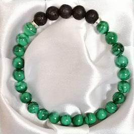 Bracelet Malachite, Lave