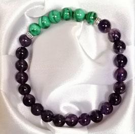 Bracelet Améthyste Malachite
