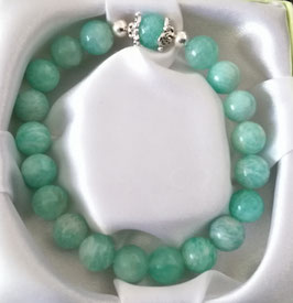 Bracelet Amazonite + argent 925
