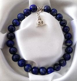 Bracelet Lapis Lazuli + argent 925