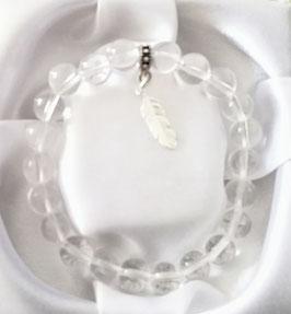 Bracelet Cristal de Roche + argent 925