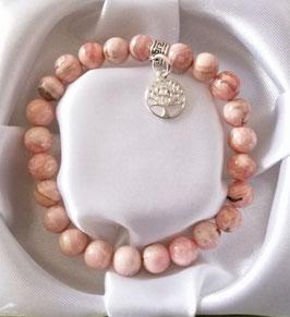 Bracelet Rhodochrosite + argent 925