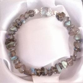 Bracelet en Labradorite + argent 925