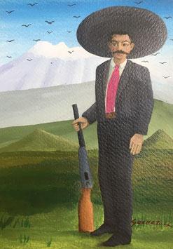 RANCHERO WITH GUN / GOUACHE