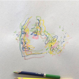 Sutil / dibujo original a tres lápices sobre papel