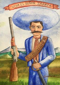 VIVA EL SEÑOR ZAPATA / GOUACHE