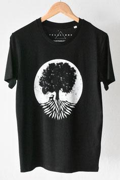 """Camiseta """"el árbol feliz"""". Unisex en blanco y negro. 100% algodón orgánico!"""