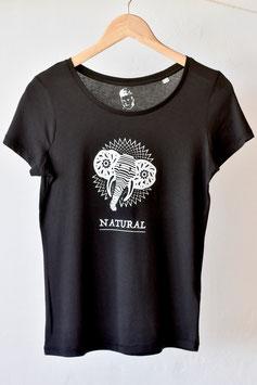 """Camiseta para chica """"elefante blanco y negro"""". 100% algodón orgánico!"""