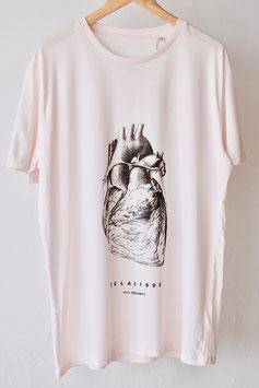 "Camiseta unisex ""Telalibre cor"", rosa, 100 % algodón orgánico!"