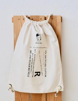 """Mochila """"R"""" de calidad y duradero. 80 % algodón reciclado, 20 % poliéster reciclado!"""