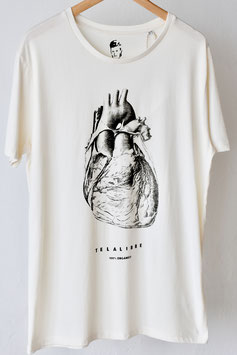 "Camiseta unisex ""Telalibre cor"", blanco crudo, 100 % algodón orgánico!"