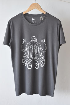 "Camiseta unisex ""anthrazit pulpo"". 100% algodón orgánico!"