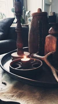 Oud ijzeren wiel  voor waxine
