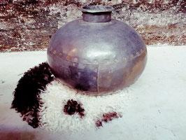 Nagouri oud metalen pot