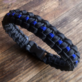 Paracord Bracelet Slim Line, ThinBlueLine