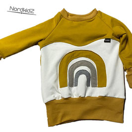 Regenbogen Sweater NEU Senf