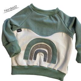 Regenbogen Sweater NEU Altmint