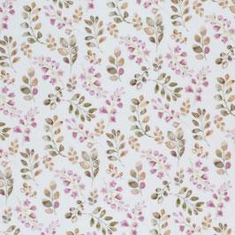 Blätter rosa Futter Jersey