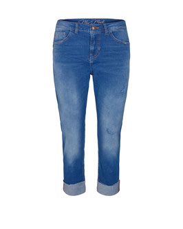Ava Turn-up Jeans, blue