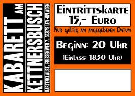 """Eintrittskarte """"Kabarett am Kettnersbusch"""" 7.3.2017"""