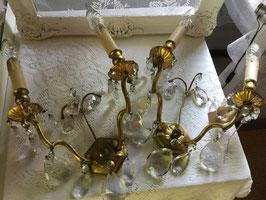 nr: 1219 prachtige antieke grote Franse wandlampjes