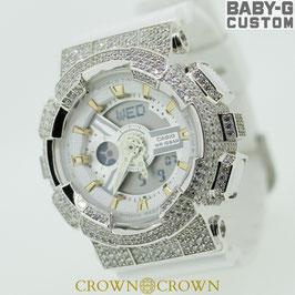 BABY-G ベビージー カスタム レディース 腕時計 レディース時計 BA110 BA110-LP7A スワロフスキージルコニア 人気 ブランド カスタムベゼル CROWNCROWN BA110-021
