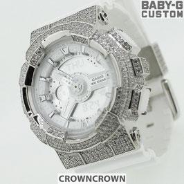 BABY-G ベビージー カスタム レディース 腕時計 レディース時計 BA110 BA110-LP7A おしゃれ  芸能人 愛用 人気 ブランド カスタムベゼル CROWNCROWN BA110-006