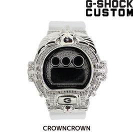 《サマーセール値引き》G-SHOCK ジーショック カスタム メンズ 腕時計 DW-6900 DW6900-MR7 カスタムベゼル おしゃれ 芸能人 人気 メンズ ファッション CROWNCROWN DW6900-021