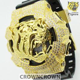 阪神タイガース 公式 ウォッチ 腕時計 クラウンクラウン ジーショック カスタム GA-110 CROWNCROWN HANSHIN-001