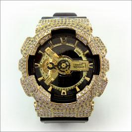 G-SHOCK ジーショック カスタム メンズ 腕時計 GA-110 GA110 GB-1 カスタムベゼル おしゃれ 芸能人 ゴールド リッチ メンズ ファッション CROWNCROWN GA110-027