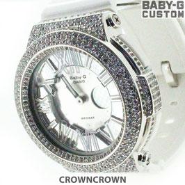 BABY-G ベビージー カスタム レディース 腕時計 レディース時計 BGA-160 BGA160-7B2 おしゃれ 芸能人 愛用 人気 ブランド カスタムベゼル CROWNCROWN BGA160-005