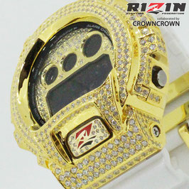 RIZIN FF collaborated by CROWNCROWN オリジナル G-SHOCK カスタムウォッチ DW-6900 DW6900-NB7 RIZIN-002