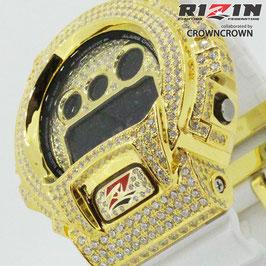 RIZIN FF collaborated by CROWNCROWN ブランド保証付オリジナル G-SHOCK カスタムウォッチ DW-6900 DW6900-NB7 RIZIN-002