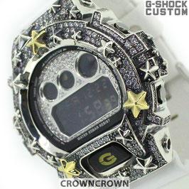 G-SHOCK ジーショック カスタム メンズ 腕時計 DW-6900 DW6900-NB1 カスタムベゼル 星スター CROWNCROWN DW6900-108